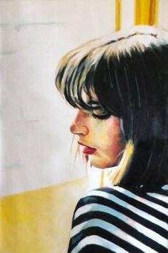 "Saatchi Art Artist Thomas Saliot; Painting, ""yellow and stripes"" #art"