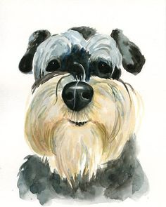 gift idea | CUSTOM of your PET by DIMDI Original watercolor painting 8X10inch $38