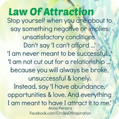Law of Attraction...