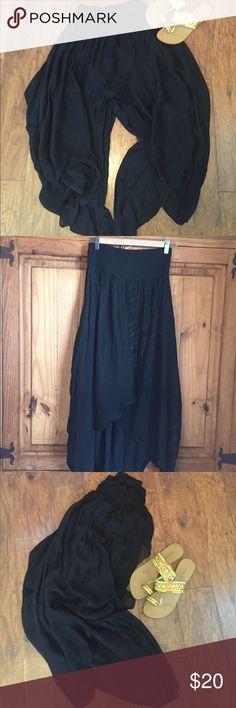 Black Harem Pants Soft and billowy harem pants. Double-layer. Never worn. Excellent condition. NWOT. Pants