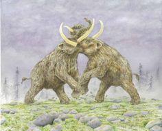 Mammut americanum Mastodons  Giclee Print by tinplatestudios, $60.00