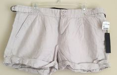 New JOE'S Beige Pebble Flat Front Cotton Linen Cuffed Mini Shorts 31 M 8/10 #Joes #MiniShortShorts