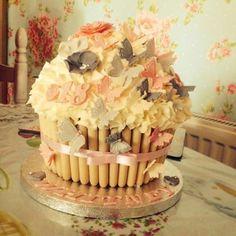 Chez Marshalls beautiful 18th Birthday Giant Cupcake
