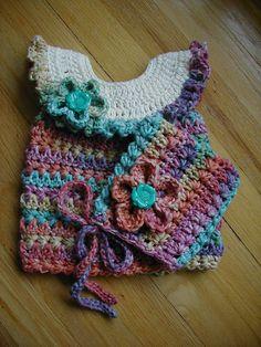 Crochet Baby Hat & Matching Dress Hand crochet by longvalleybears, $35.00