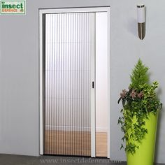 Retractable Concertina Door Fly Screen to fit doors that measure up to wide. Buy online pleated insect screen kits for doors, to keep out flies and flying insects. See our full selection of professional standard door and window fly screens. Window Fly Screens, Fly Screen Doors, Concertina Doors, Net Door, Window Sizes, Small Doors, Sliding Windows, Mosquito Net, Folding Doors