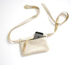 Gold Reptile bum bag, Elegant Fanny Pack, Glitter Leather bum bag, Festival Hip Bag, Small beige belt bag, Elegant Fanny Pack, Coachella Bag
