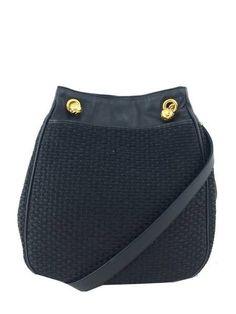 Bottega Veneta Vintage Woven Raffia Shoulder Bag