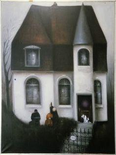 Albert Bertelsen Art For Art Sake, Black Paper, Modern Art, Illustration Art, Sculpture, Landscape, Architecture, Nice, House Styles