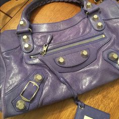 Balenciaga City Bag Authentic Balenciaga City Bag. Purple with silver  accents - used one time 12bcbe11a3