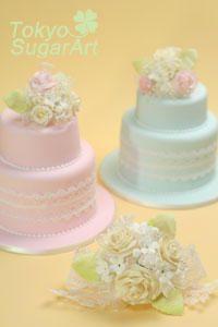 加奈子さんのウェディングケーキの画像:東京シュガーアート 頑張ってシュガーアートを広めてマス!
