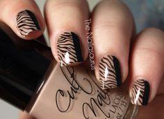 black, fashion, nail polish, nails, style - inspiring picture on Favim.com