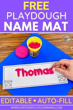 Surprise your students with their very own personalized playdough name mat on the first day of school. Place the personalized name mats at their seats with a container of playdough for them to work on when they arrive at the first day of school! Let your students take the name mat and playdough home as a gift or you can add them to your centers. These playdough name mats are EDITABLE and Auto-fill. That means all you do is type your class roster and the playdough name mats are created INSTANTLY!