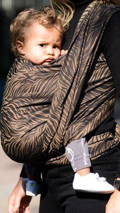 Zebra Black & Sand Woven Wrap and Ring Sling - POP by Artipoppe #babywearing www.popbyartipoppe.com