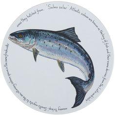 Jersey Pottery - Trivet - Leaping Salmon