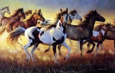 Wildlife Artist Cynthie Fisher Wild Horses Art Print Wild Fire | WildlifePrints.com