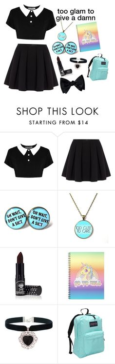 """pastel goth"" by a-lily-bit-of-everything ❤ liked on Polyvore featuring Polo Ralph Lauren, Manic Panic, Rock 'N Rose, JanSport and tumblr"