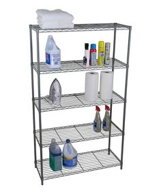 Look at this Silver Five-Tier Wire Shelf on #zulily today!