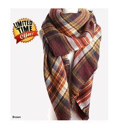 Blanket Scarf Plaid scarf oversized zara by www.bootcuffsandsocks.com