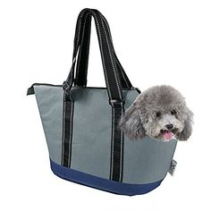 Portable Small Pet Dog Puppy Cat Travel Outdoor Carrier Carry Tote Bag Dark  Grey Go Shopping Hiking Walking with Doggy     undefined  DogCarriers 7fa0a86812a7