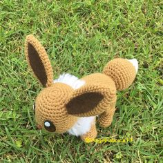 Crochet fil Evoli mignon Pokemon aller par AngelFabrica77 sur Etsy