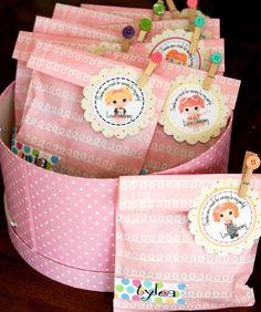 Lalaloopsy Doll + Sewing Birthday Party - Kara's Party Ideas = favor bags