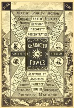 "The highest object of life is the possession of a good character. The foundations of civil security, the progress and civilization of nations depend upon individual character. Character is power in a much higher sense than that knowledge is power."" Henry F. Kletzing  This illustration served as the frontpiece to a book published in 1899: Traits of Character Illustrated in Bible Light by Henry F. Kletzing."