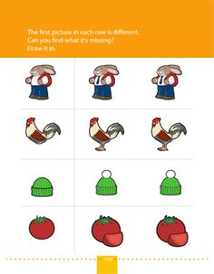 Each row on this prekindergarten worksheet has three matching pictures. But, wait! The first picture is missing something. Kids draw what's missing. Preschool Learning, Preschool Activities, What Is Miss, Pre Kindergarten, Activity Sheets, Music Therapy, Worksheets For Kids, Drawing For Kids, Pre School