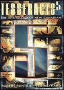 Tesseracts 5, original anthology of Canadian Speculative Fiction, co-edited by Robert Runté and Yves Meynard. 1996. Fifth in a series originated by Judith Merril. Cover art by David Vereschagin who went on to become one of Canada's top book designers. ISBN-10: 1895836255 ISBN-13: 978-1895836257