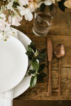 Elegant And Organic Table Setting