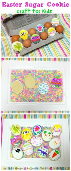 Easter Sugar Cookies Craft For Kids #Easter