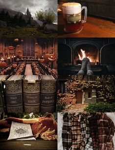 autumn with harry potter references! What could be better?Cozy autumn with harry potter references! What could be better? Hogwarts, Slytherin, Folklore, Harry Potter References, Fall Inspiration, Autumn Aesthetic, Aesthetic Collage, Autumn Cozy, Hello Autumn