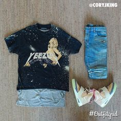 Today's top #outfitgrid is by @coryjking. ▫️#Yeezus #Tee ▫️#FearOfGod #Tank…