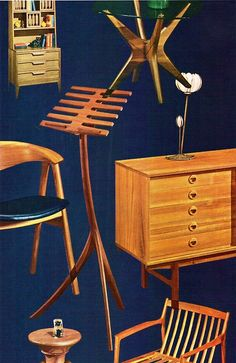 Danish Modern Furniture Illustrations
