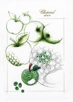 Chopard Apple Ring sketch