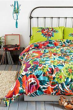 Plum & Bow Bouquet Duvet Cover
