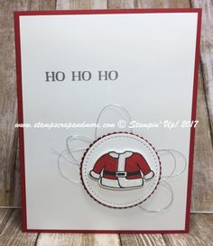 Santa's Suit Bundle from Stampin' Up! 2017 Holiday Catalog