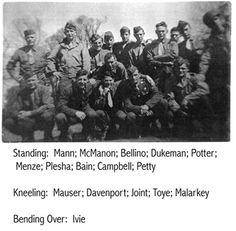 George Potter and 2nd platoon