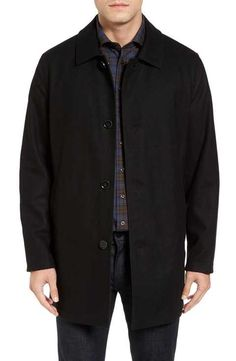 Cole Haan Reversible Wool Blend Overcoat