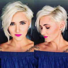 Platinum Blonde Pixie Perfection