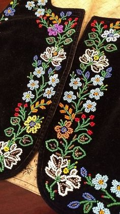 #embroidery Embroidery Suits Design, Bead Embroidery Patterns, Hand Work Embroidery, Embroidery On Clothes, Hand Embroidery Designs, Beading Patterns, Embroidery Art, Zardozi Embroidery, Couture Embroidery