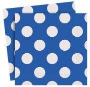 Royal Blue Polka Party Napkins - Blue Polka Party - Polka Parties - Party Themes A-Z - Kids' Party