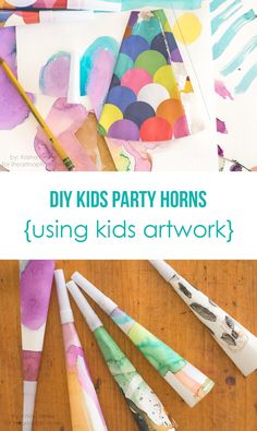 DIY party horns