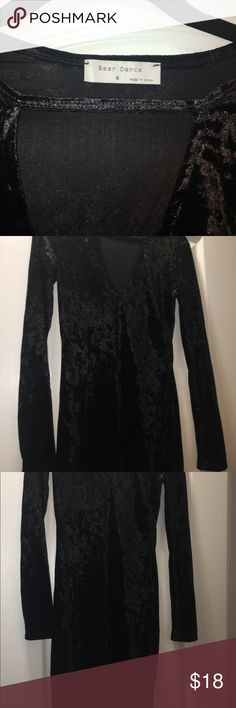 Black velvet midi dress, size M. Bear Dance. Black velvet midi dress, size M. Bear Dance is the brand. This dress was only worn once while doing a fitting, bust was tight. Bust measurement for 36in. Bear Dance Dresses Midi