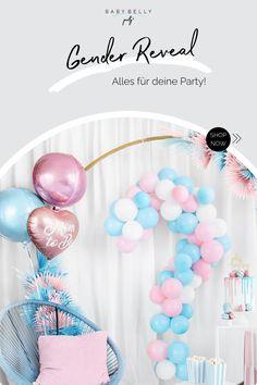 Mädchen oder Junge? Feier eine tolle Gender Reveal Party mit Freunden und Familie - hier bekommst du Deko, Spiele und Backzubehör für die große Enthüllung Reveal Parties, Gender Reveal, Baby Gender, Boy Or Girl, Games, Amazing, Deco, Gender Reveal Parties, Baby Gender Revealing