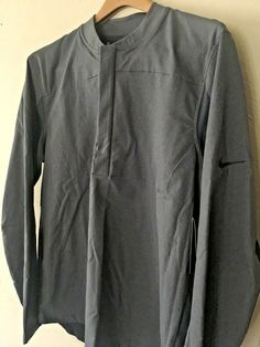 12204746 New Mens Nike Shield Half Zip Golf Jacket Size Medium - Blue 892211 471  $110 #