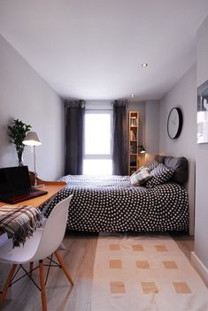 best small bedroom design ideas for your kids 8 Bedroom Layouts, Room Ideas Bedroom, Small Room Bedroom, Small Rooms, Narrow Bedroom Ideas, Bed Room, Long Narrow Bedroom, Small Bedroom Ideas On A Budget, Very Small Bedroom