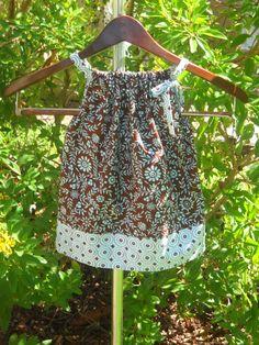 Cute handmade pillowcase dresses for little girls.