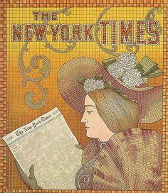 Detail of a New York Times Ad - 1895, Paris, Musée des Arts Décoratifs.