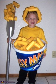 Easy Mac & Cheese creative homemade Halloween costume