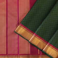 Kattam & Vari - Checks and Stripes Kanakavalli Sarees, Khadi Saree, Saris, Tan Removal, Saree Blouse Neck Designs, Soft Silk Sarees, Fancy Sarees, Pink Saree, Tan Skin